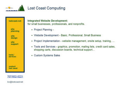 Lost Coast Computing: Site Planning Guide